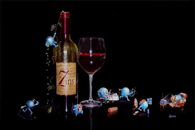 """Michael Goddard - """"7 Deadly Zins"""" I do not drink reds... same line of thinking as the Chardonnay.  I take myself far too seriously."""